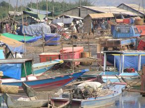 Floating villages in Cambodia