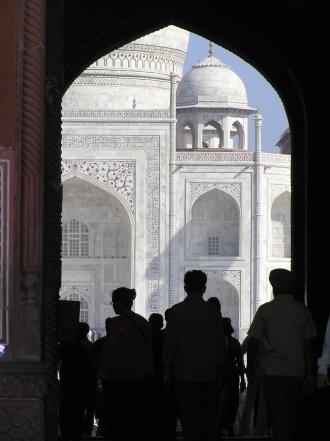 View of the Taj Mahal, India