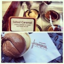 Delectable Wicked and Salted Caramel ice cream at Jacques Torres