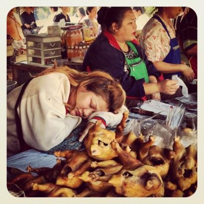 sleeping on the job in the market