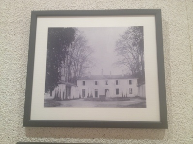 photos of the chateau being built in the early 1900s