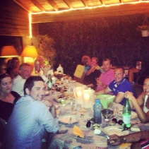 AnneMarie hosted a wonderful dinner with family and friends