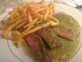 "steak frite dinner w/ ""special sauce"""