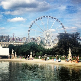 August festival in the Tuileries Gardens