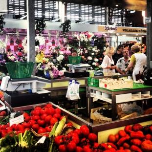 food market next door to Cafe Jean